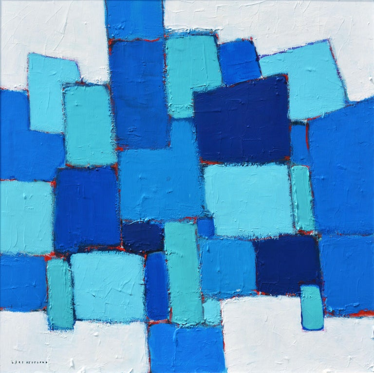 Sometimes less is more. This work is about color, texture, simple forms and a composition that stays alive.