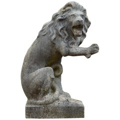Composition Stone Garden Lion Statue