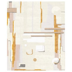 Composition V Hand Knotted Wool and Silk Rug 9 x 12ft