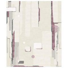 Composition V.II - Modern Designer Hand Knotted Wool Silk Rug