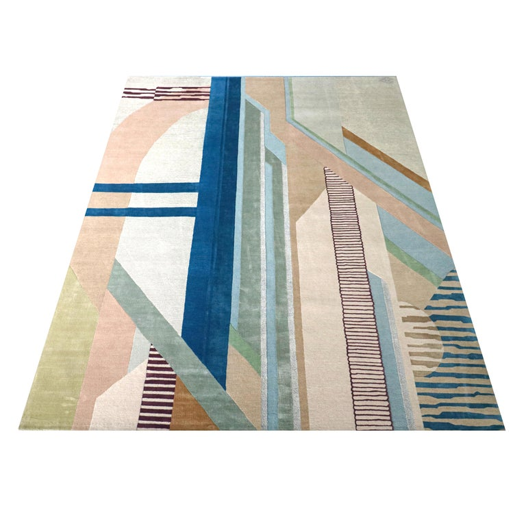 Free virtual rug fitting - just send us pics of your interior and we suggest you the best designs, shapes, sizes and colors.  The Сomposition VIII rug from the Abstraction collection, which was presented at Rossana Orlandi Gallery, Milan and