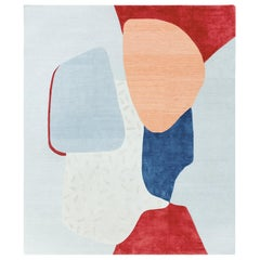Composition X - Multicolor Bright Hand Knotted Wool Silk Rug
