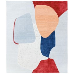 Composition X - Multi-Color Bright Hand Knotted Wool Silk Rug