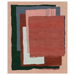 Composition XII.I - Colorful Bedroom Hand Knotted Wool Silk Rug