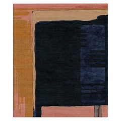 Composition XIII.I - Colorful Contemporary Hand Knotted Wool Silk Rug