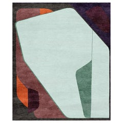 Composition XV.I - Geometric Designer Hand Knotted Wool Silk Rug