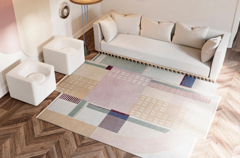 Free virtual rug fitting - just send us pics of your interior and we suggest you the best designs, shapes, sizes and colors.  This collection is inspired by the abstract forms, cubist volumes and geometric figures of 20th century art movements.
