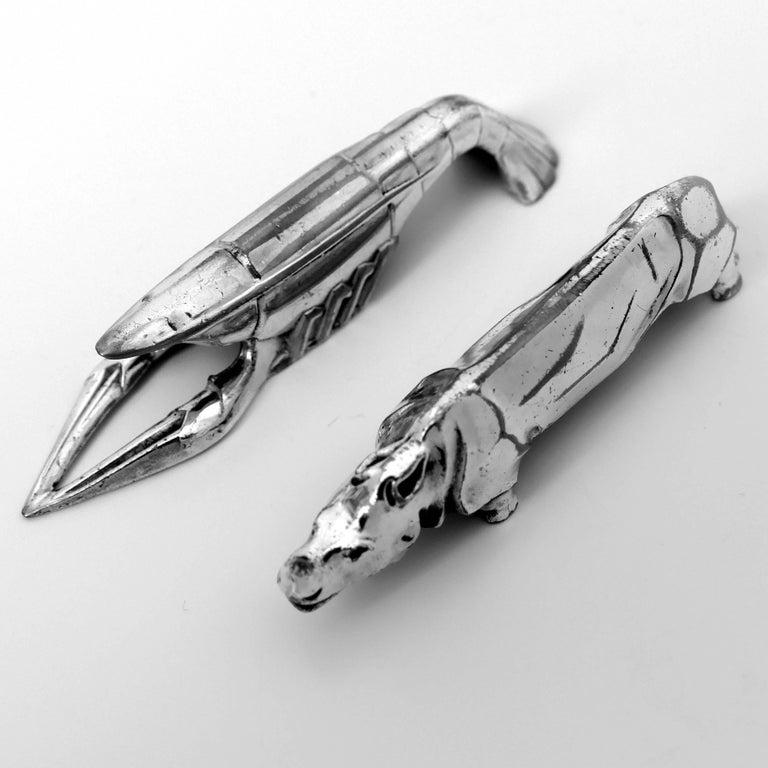 Comptoir General, French Art Deco Knife Rests Set 12 Pc, Animals, Original Box For Sale 1