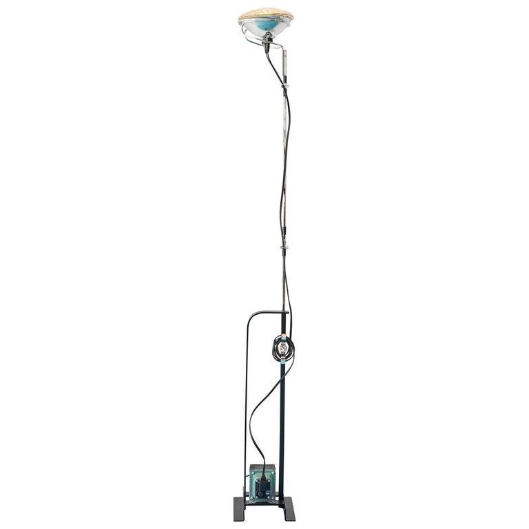 Comtemporary Flos Toio Steel Floor Lamp by Achille & Pier Giacomo Castiglioni For Sale
