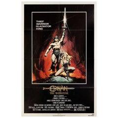 Conan the Barbarian 1982 U.S. One Sheet Film Poster
