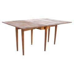 Conant Ball Mid Century Solid Maple Drop Leaf Dining Table