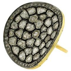 Concave Rosecut Diamond Ring
