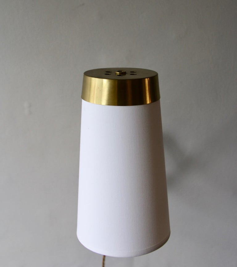 Concertina Wall Light in Polished Brass, Designed and Made in Denmark circa 1950 9