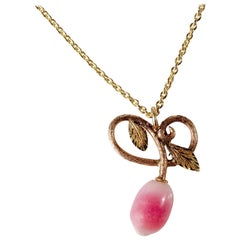 Conch Pearl Pendant Victorian-Era GIA Certified