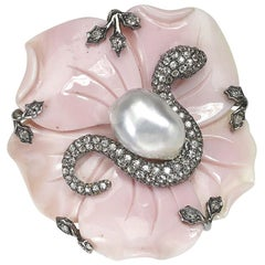 Conch Shell Flower and Snake Ring