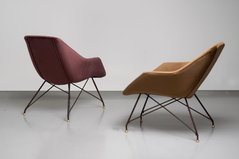 'Concha' Armchairs, Martin Eisler and Carlo Hauner, Modern Brazilian Design 1955 For Sale 6