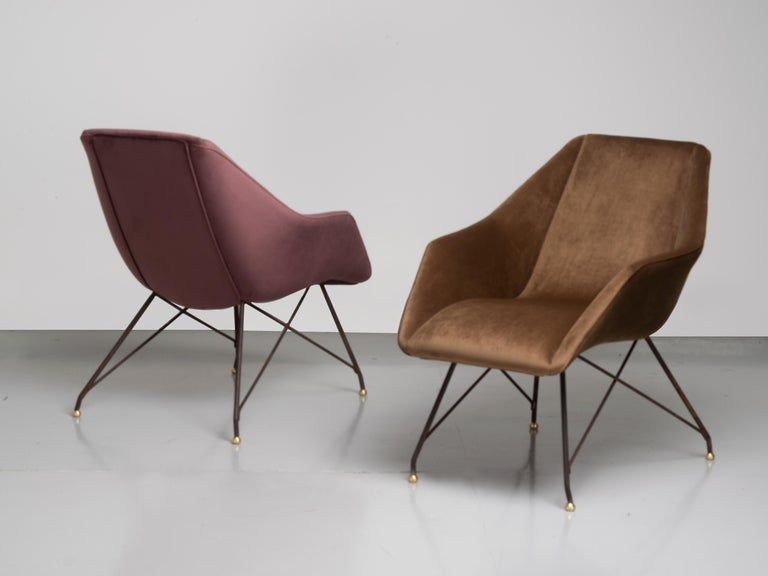 'Concha' Armchairs, Martin Eisler and Carlo Hauner, Modern Brazilian Design 1955 For Sale 7