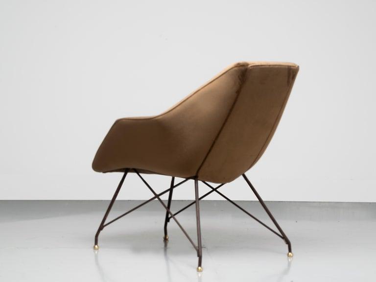 Iron 'Concha' Armchairs, Martin Eisler and Carlo Hauner, Modern Brazilian Design 1955 For Sale
