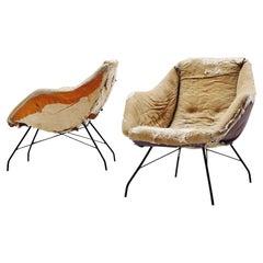 Concha Lounge Chairs Carlo Hauner Martin Eisler, Brazil, 1950
