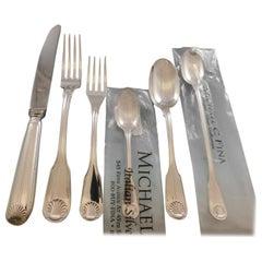 Conchiglia Zaramella Italy Sterling Silver Flatware Set Service Dinner 68 Pc New