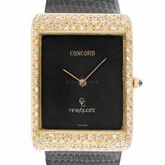 Concord 1395300 Nine 18 Karat Yellow Gold Quartz Dress Watch on Strap with Box