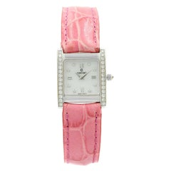 Concord 14 Karat Gold MCS White Mother of Pearl Diamonds Quartz Ladies Watch