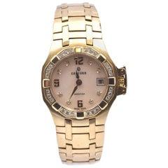 Concord 18 Karat Yellow Gold Saratoga Ladies Diamond Watch with Diamond Dial