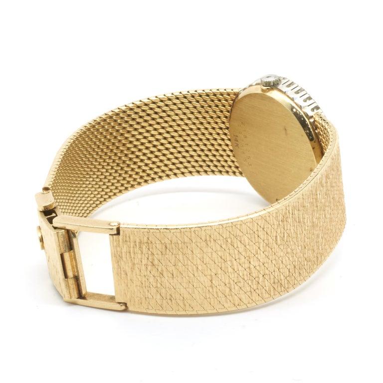 Round Cut Concord 18 Karat Yellow Gold Vintage Ladies Diamond Watch For Sale