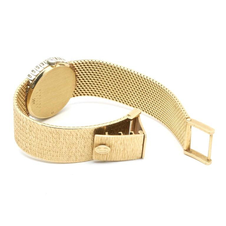 Concord 18 Karat Yellow Gold Vintage Ladies Diamond Watch In Excellent Condition For Sale In Scottsdale, AZ