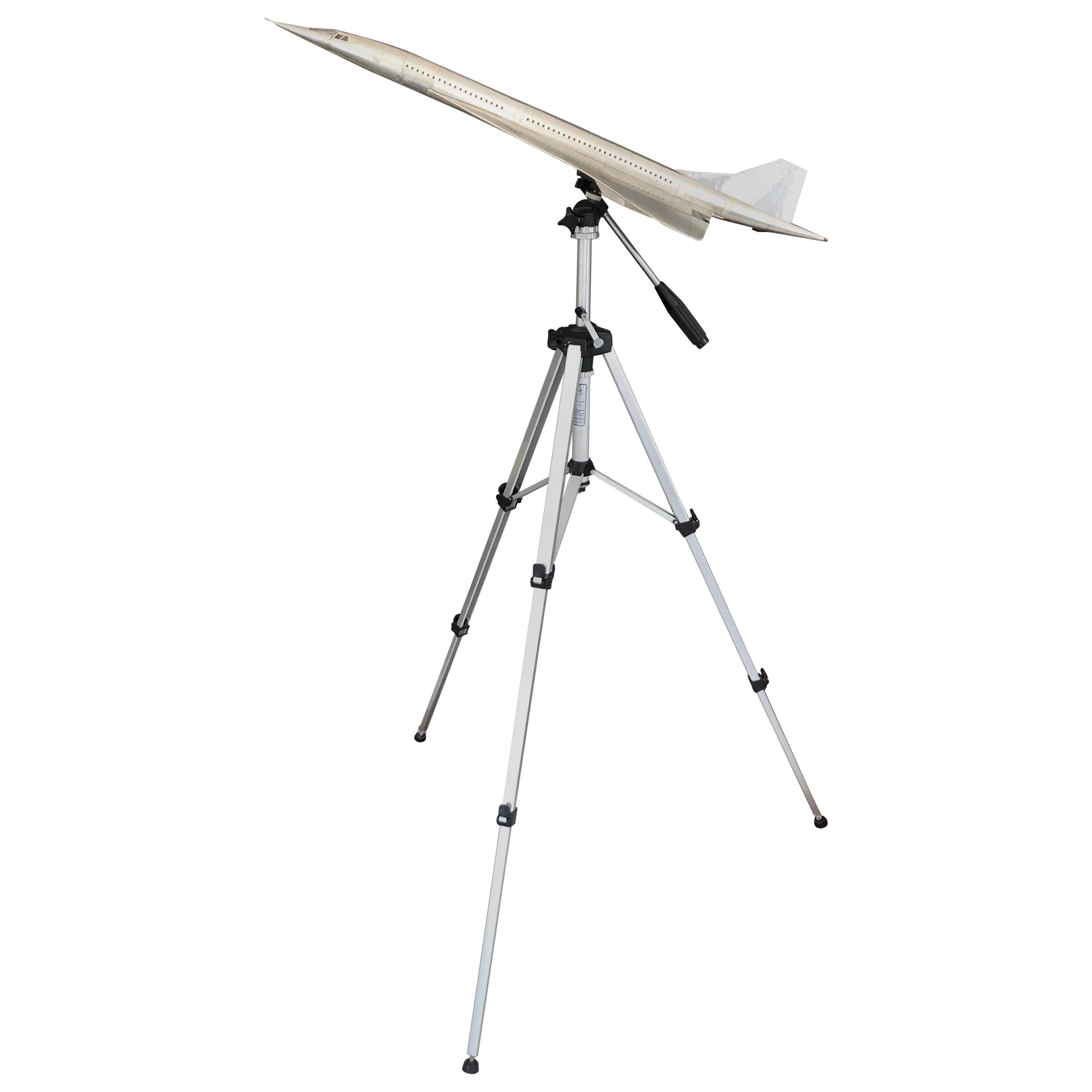 Concord Airplane Scale Model with Adjustable Tripod
