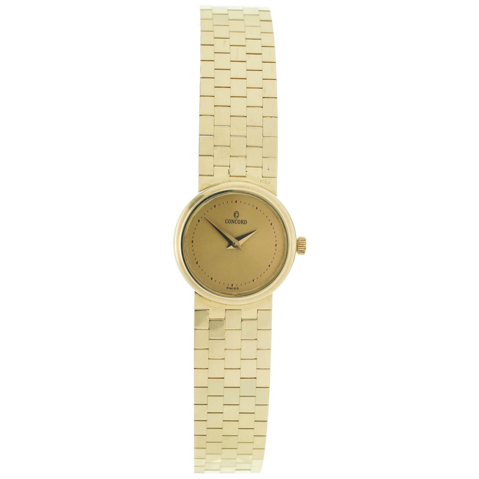 Concord C100 14 Karat Yellow Gold Quartz Ladies Watch 22262256