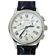 Concord Chronograph Stainless Steel Wristwatch
