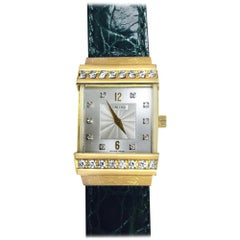 Concord Crystale 18 Karat Yellow Gold Leather Band Watch
