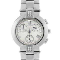 Concord La Scala Chronograph Dial Diamond Wristwatch