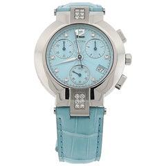Concord La Scala Light Blue with Diamond Bezel Watch
