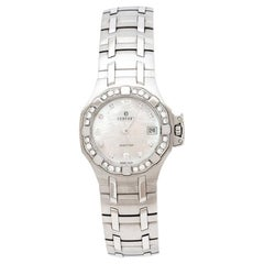 Concord Mother of Pearl Stainless Steel Diamonds Saratoga Women's Wristwatch 28