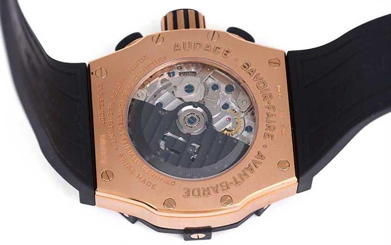 Men's Concord Rose Gold C1 Sport Chronograph Automatic Wristwatch Ref 0320012 For Sale