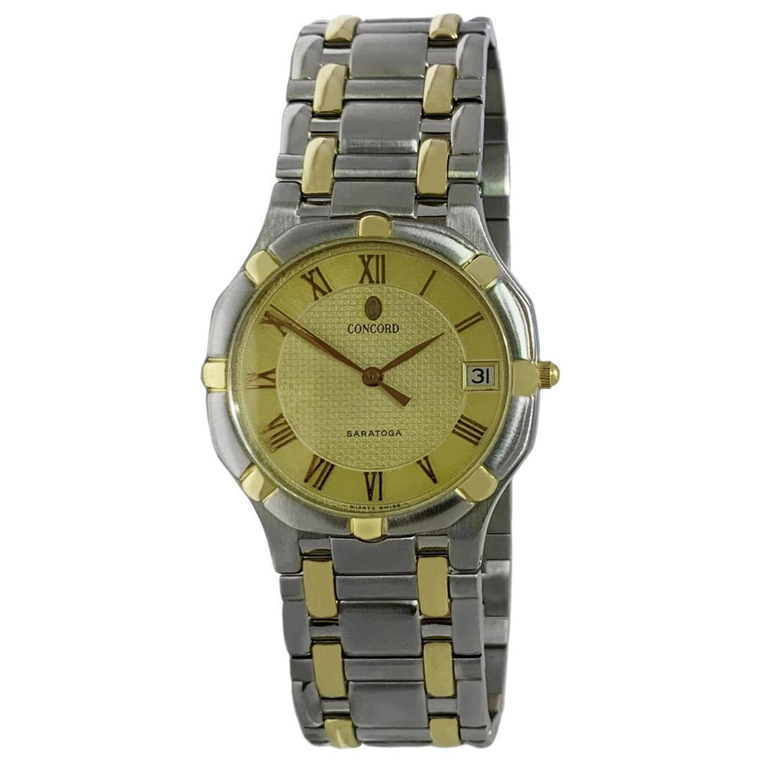 Concord Saratoga 18 Karat Gold and Steel Watch