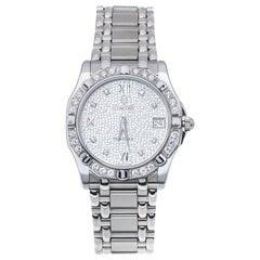 Concord Silver Diamonds Stainless Steel Saratoga SL Men's Wristwatch 34mm