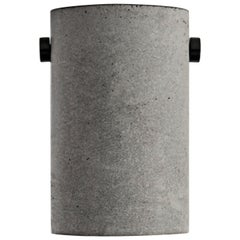 "Concrete and Aluminum Ceiling Lamp, ""Lv,"" from Concrete Collection by Bentu"
