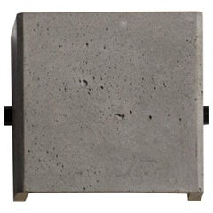"Concrete and Aluminum Wall Lamp, ""V,"" from Concrete Collection by Bentu"