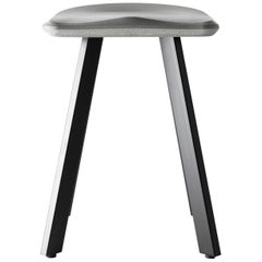 """Concrete and Powder-Coated Steel Bar Stool, """"A,"""" from Concrete Collection"""