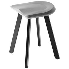 """Concrete and Powder Coated Steel Stool, """"A,"""" from Concrete Collection by Bentu"""