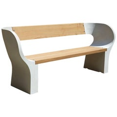 Concrete and Timber Snug Outdoor Bench