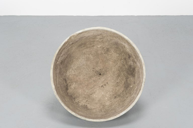 1970s Concrete Bowl Planters by Willy Guhl for Eternit For Sale