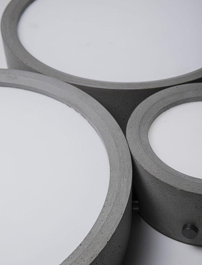 Industrial Concrete Ceiling Light 'Huan' 'medium' For Sale