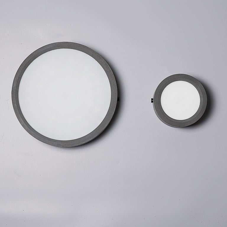 Chinese Concrete Ceiling Light 'Huan' 'medium' For Sale