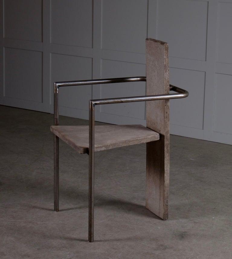 Concrete Chair Jonas Bohlin, Sweden, 1980s For Sale 5