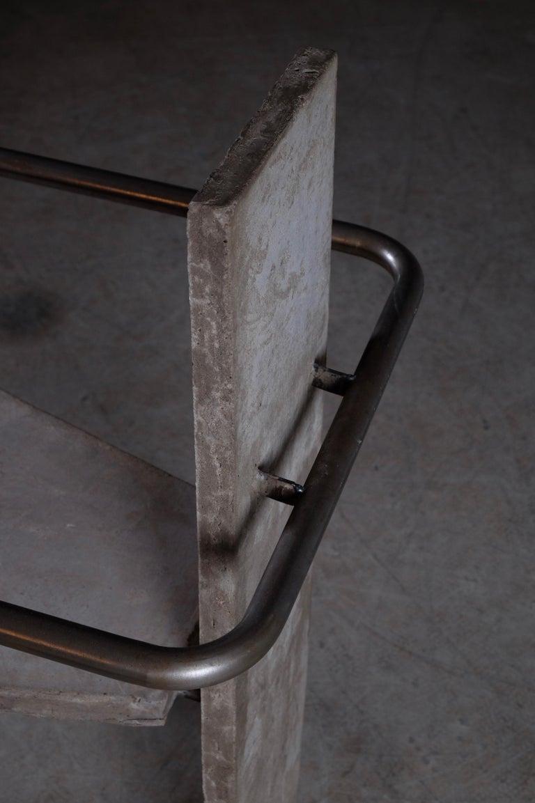 Scandinavian Modern Concrete Chair Jonas Bohlin, Sweden, 1980s For Sale