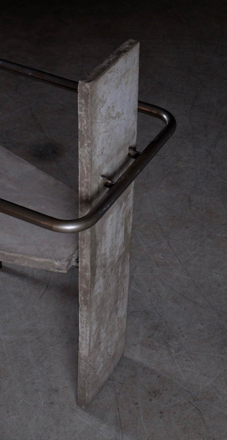 Concrete Chair Jonas Bohlin, Sweden, 1980s For Sale 1